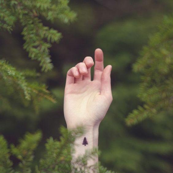 Minimalist Tattoo # Pine #tattoo #minimalism