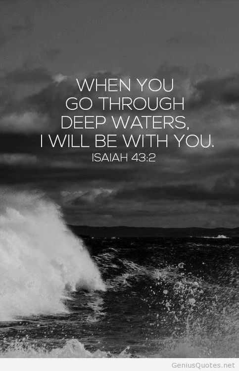 I Know Lord Because My Waters Are Pretty Deep At The Moment