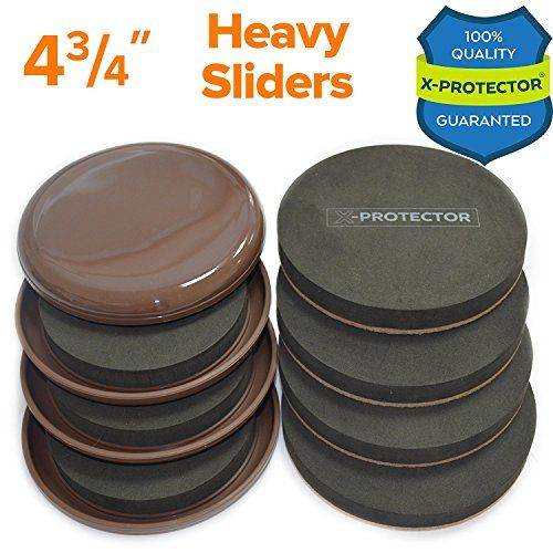 Furniture Sliders Kit 8 Pieces 4 3 4 Inch Carpet Sliders Felt Sliders Moving Pads Furniture Movers All Floor Types Heavy Duty Reusable Sliders For Movi Furniture Sliders Moving Pads Furniture Movers