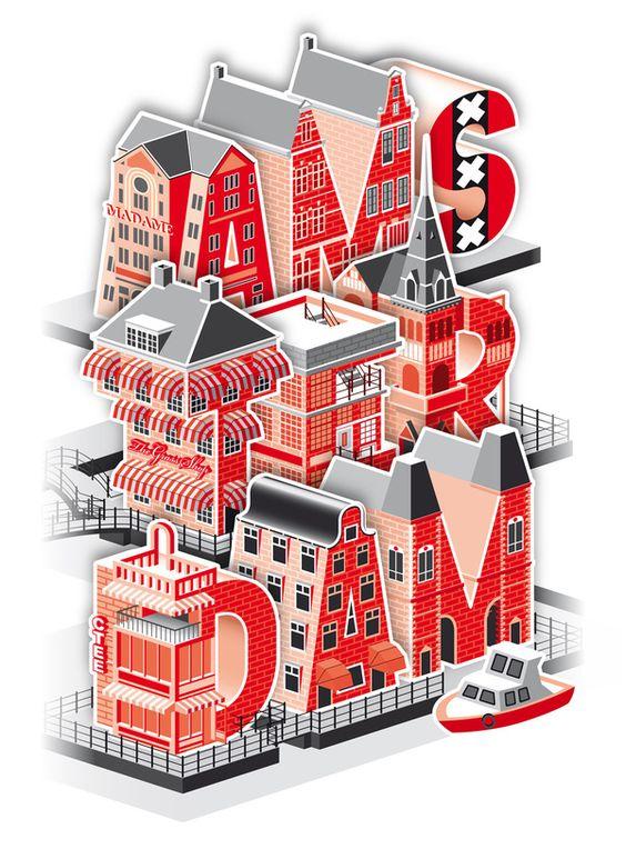 Typography :: Amsterdam / C-Tee - Contest Be Street x La Fabrique by CHAé46, via Behance