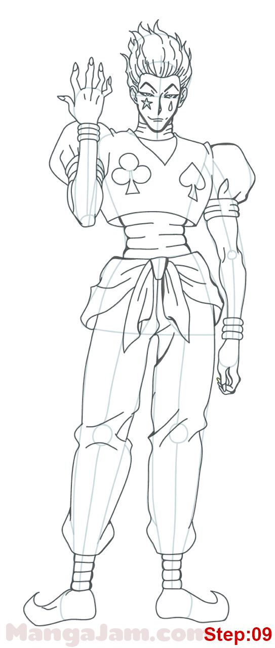 How To Draw Hisoka From Hunter X Hunter Mangajam Com In 2020 Hunter Anime Anime Character Drawing Hisoka