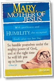 MARY - Women of the Bible Bulletin Board Poster Set: