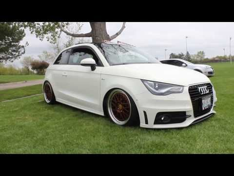 Bagged Audi A1 On Bbs Lm Wheels Wheel Fitment Guide A1 On