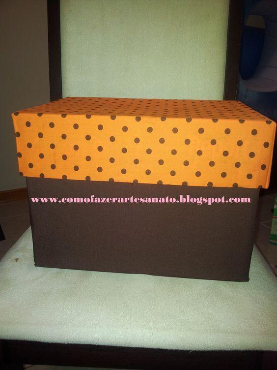 Como fazer artesanato: Caixas de Papelão Decoradas - Reciclagem