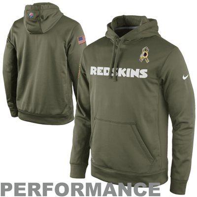 Nike Washington Redskins Salute to Service KO Pullover Performance ...