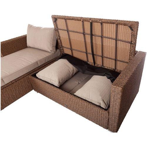 Patio Sense Wicker 2 Piece Furniture Set Mocha 62426 Best Buy Outdoor Sofa Sets Patio Seating Sets Outdoor Sofa
