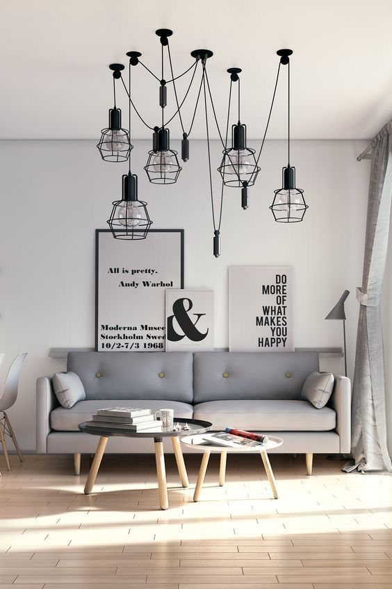 2018 Scandi Style Interior Decor Pale Grey Sofa Wooden Floor Industrial Style Penda Minimalist Living Room Living Room Scandinavian Living Room Decor Apartment