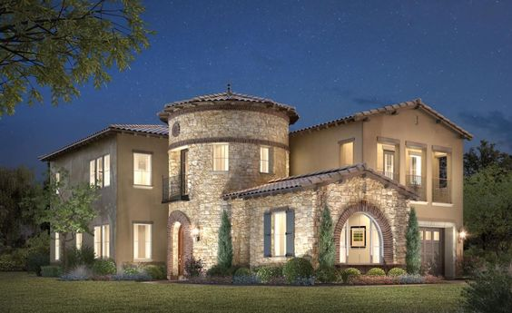 Stone Turret House Plans Entry Luxury Home Plan with