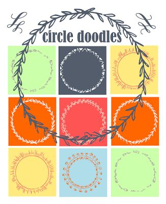 free digital and printable circle doodle tags and digi stamp – Etiketten Clipart – freebie | MeinLilaPark – DIY printables and downloads