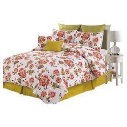 Belmont 8 Piece Comforter set in Yellow