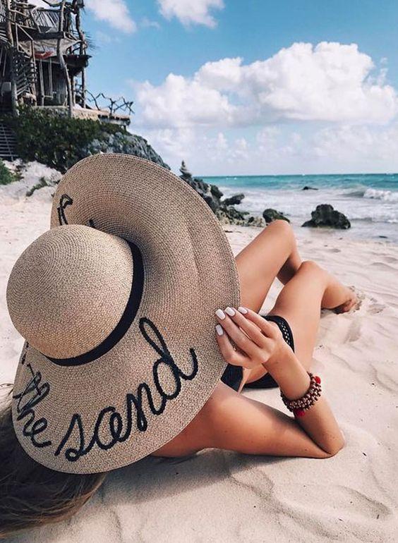 Look de Praia Estiloso: tendências em saídas de praia, acessórios, bolsas de palha, chapéus + dicas de como se vestir na praia