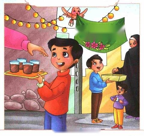 مواليد الأئمة تصوير للاطفال Islamic Cartoon Drawing For Kids Islamic Paintings