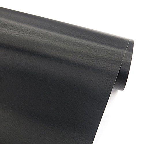 Glow4u Self Adhesive Faux Black Brushed Metal Stainless Steel Vinyl Film Wall Paper Shelf Drawer Liner In 2020 Stainless Steel Contact Paper Brushed Metal Vinyl Shelf