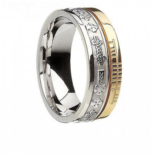 Ogham Celtic Cross Faith Ring Unusual Wedding Rings Claddagh Ring Wedding Irish Wedding Rings