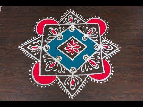New Year Easy Rangoli Designs For 2018 Latest Kolam Designs For New Year 2018 Rangavalli Youtube Kolam Designs Easy Rangoli Designs Rangoli Designs