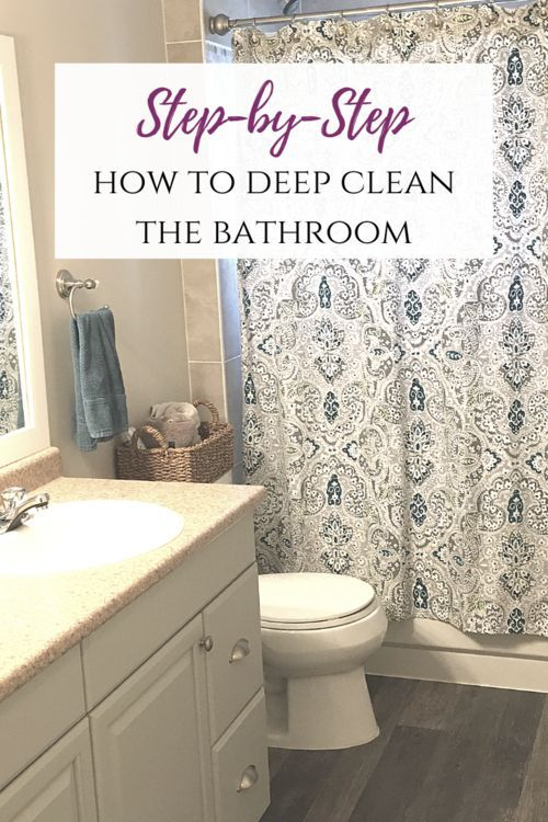 How To Clean A Bathroom Step By Step Bathroom Cleaning Hacks Bathroom Cleaning Cleaning Bathroom Tiles