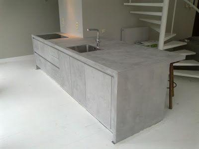 Pladur barcelona microcemento mortex interior cocinas - Cocinas de microcemento ...