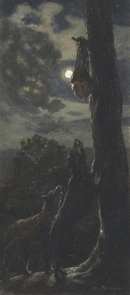 """""""Sin título"""" de Julio Ruelas (México, 1870- Francia, 1907):"""