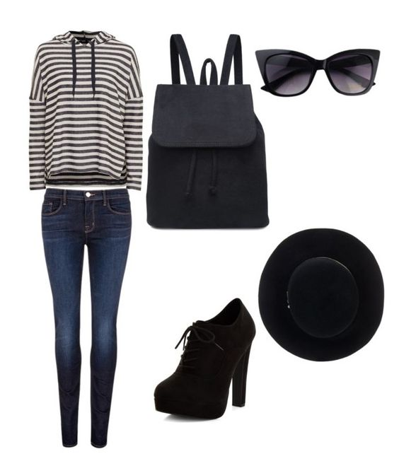 """""""Lazy Day"""" by pjcamg07 ❤ liked on Polyvore featuring J Brand, New Look and Eugenia Kim"""