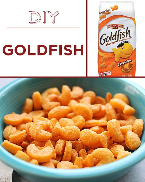 Home-baked goldfish crackers are possibly even more adorable than the originals. | 30 Foods You'll Never Have To Buy Again