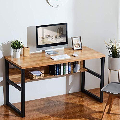 Buy Sedeta 55 Computer Desk Bookshelf Modern Office Desk Storage