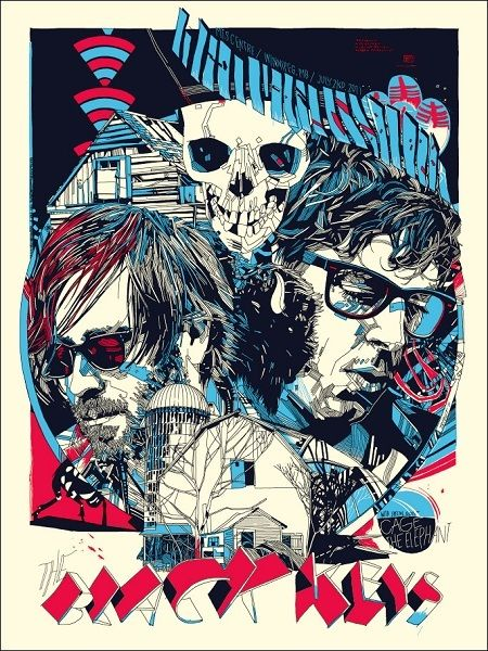 The Black Keys by Tyler Stout #gigposters