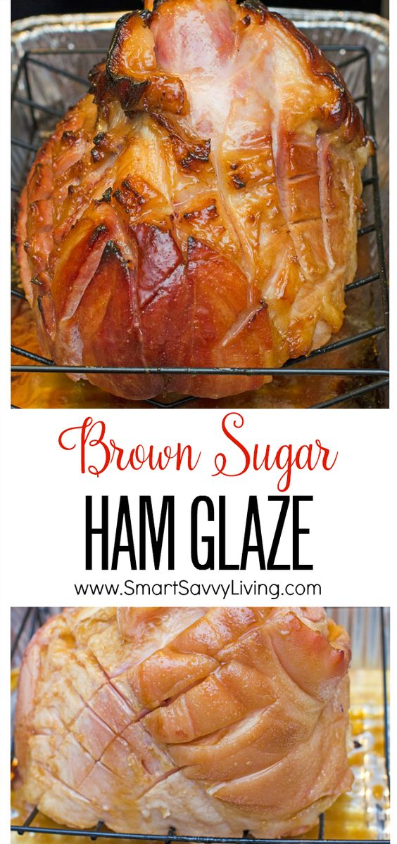 Brown Sugar Ham Glaze Recipe | Whether it's for Easter brunch, Thanksgiving lunch or Christmas dinner, this ham glaze recipe is full of sticky flavor that you can enjoy all year long. Not only is this brown sugar ham glaze delicious, but it also gives your ham a beautiful sheen to really impress your guests.