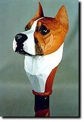 American Staffordshire Terrier Dog Walking Stick