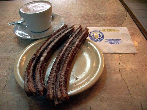Churros y Chocolate!!    Great place:Churrería El Moro    Lázaro Cárdenas 42 Mexico City, MX