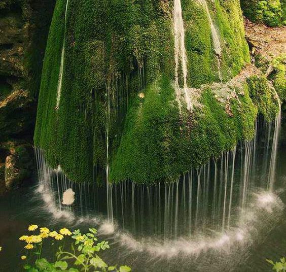 WOW!!...Beautiful unique waterfall in a forest in Romania