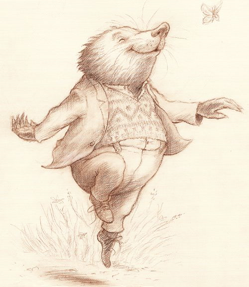 Moley - Wind in the Willows. This is going to be me today in the high meadows :-)