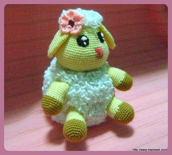 Amigurumi Lamb Patterns : Amigurumi crochet PDF pattern - A little lamb Cute ...