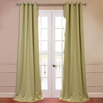 Curtains Ideas blackout curtain reviews : Half Price Drapes Plush Grommet Blackout Curtain Single Panel ...