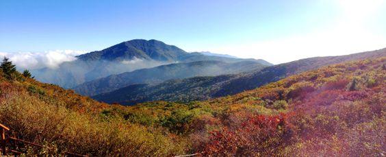 Toàn cảnh núi Jirisan - Hàn Quốc