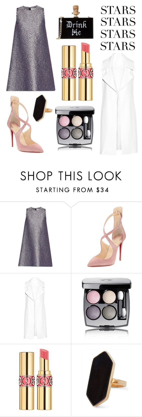 """Untitled #30"" by messymushroom ❤ liked on Polyvore featuring Balenciaga, Christian Louboutin, Cushnie Et Ochs, Chanel, Yves Saint Laurent and Jaeger"