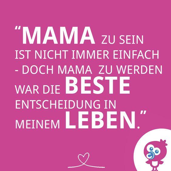 Die beste Entscheidung im Leben: Mama sein! Mama Baby Kind Glück