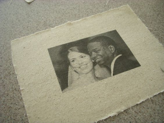 how to print photos on fabric- so I can add some photos to our wedding quilt!