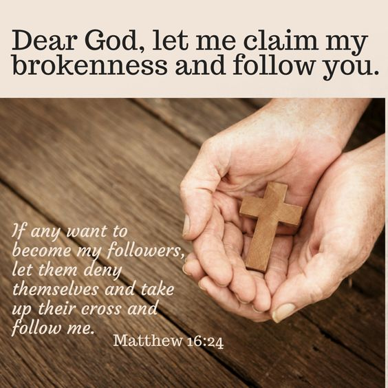 Blessing lives one at a time through our own brokenness.  Follow God and minister to others and yourself.