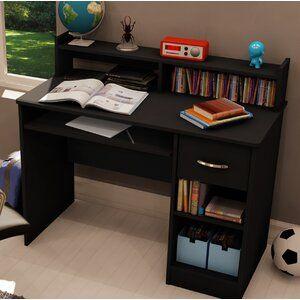 Helmuth Task Chair Black Computer Desk Small Desk Wood Computer Desk