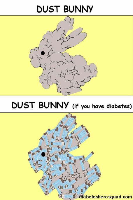 diabetic dust bunny