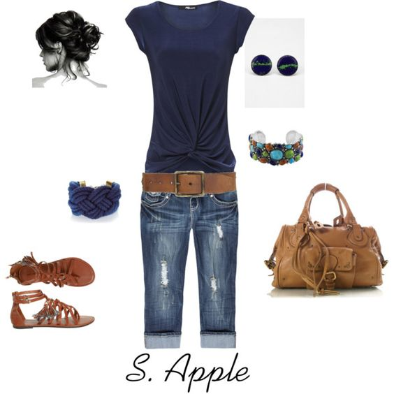 Navy, created by sapple324 on Polyvore: Summer Casual, Navy Outfit, Dream Closet, Cute Outfits, Spring Summer, Summer Outfits, I D Wear, My Style