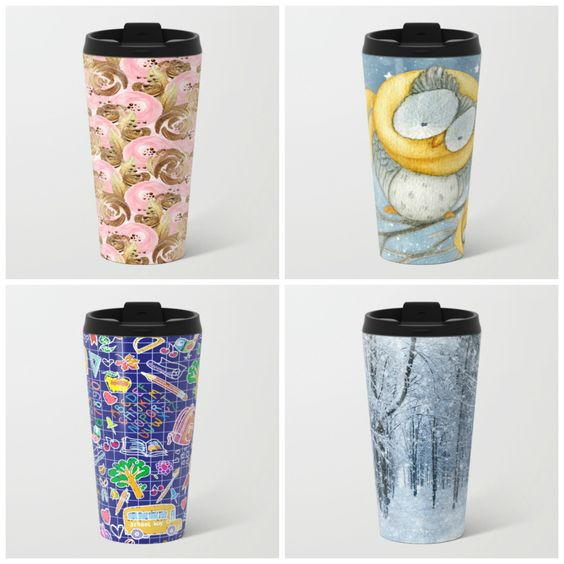 NEW #metal #travelmug - #sale #deals $5 off + #freeshipping #worldwide on EVERYTHING on my store. Only using this #promo link: bit.ly/artistpromolink - ends 11/6 Midnight PT.