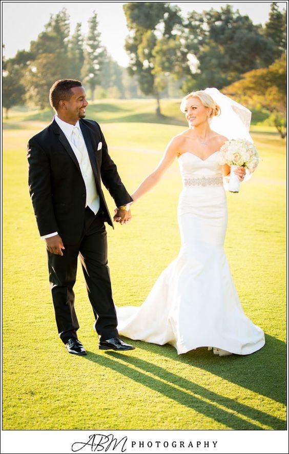 Alfonso Ribeiro + Angela Unkrichs Wedding Photography     LA Weddings   .....gorgeous dress.