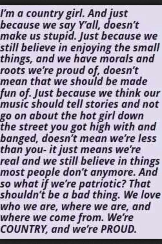 I'm a Proud Country Girl!