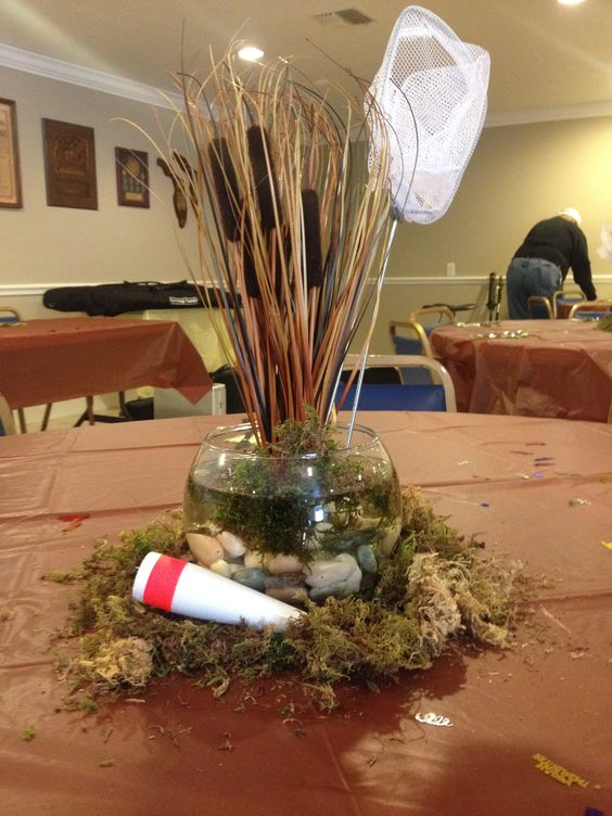 Retirement party fishing theme titusville moose lodge for Fishing themed party supplies