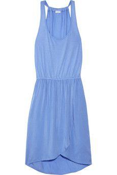 Jersey and voile tank dress: Bule Dress, Color Blue, Summer Style, Tank Dress, Blue Summer Dresses, Super Cute Dresses, Jersey Dresses
