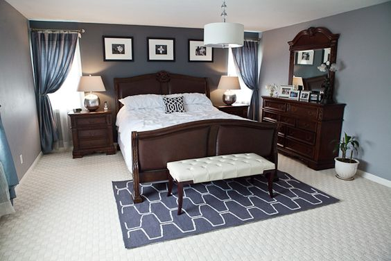 Bedroom makeovers tins and paint colors on pinterest for Behr paint ideas for bedroom