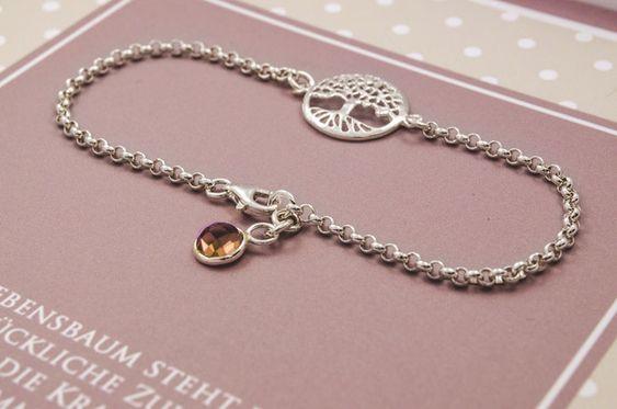 Armbänder - Lebensbaum Armband, 925 Sterling Silber…