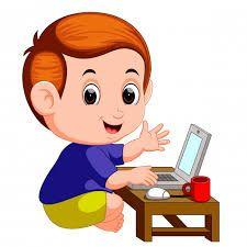 Nino Usando Computadora Animado Buscar Con Google Ninos Estudiando Computadora Para Ninos Dibujos Para Ninos