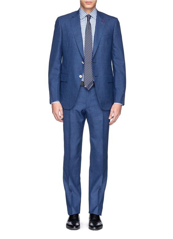 Mohair-wool-silk-linen suit | Linen suit, Blue and Shops
